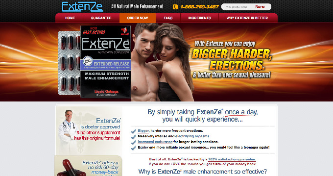 Extenze Male Enhancement Warnings